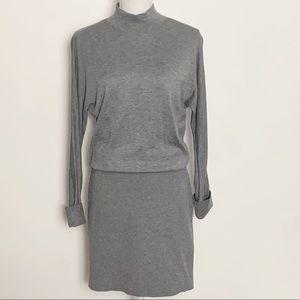 WHBM-Gray Mock Turtleneck Dress. Size Small